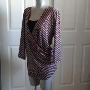Covington - Polka Dot Top Ladies Plus Size 24/26 W
